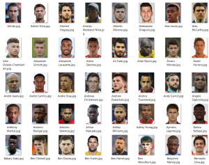 Images scraped from Transfermarkt